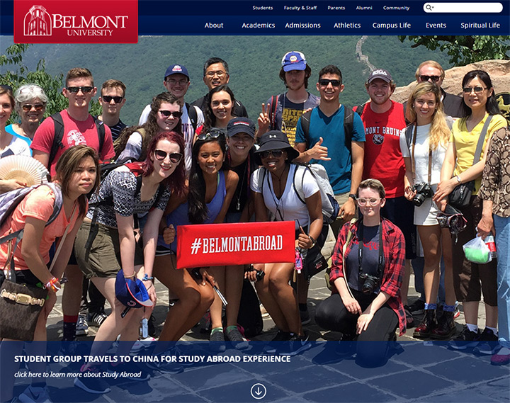 belmont uni website