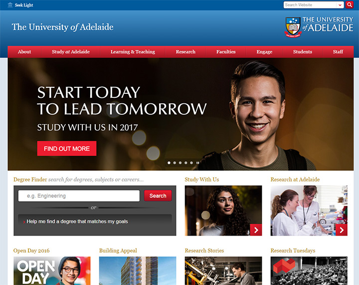 adelaide uni website