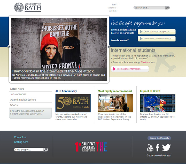 university of bath website