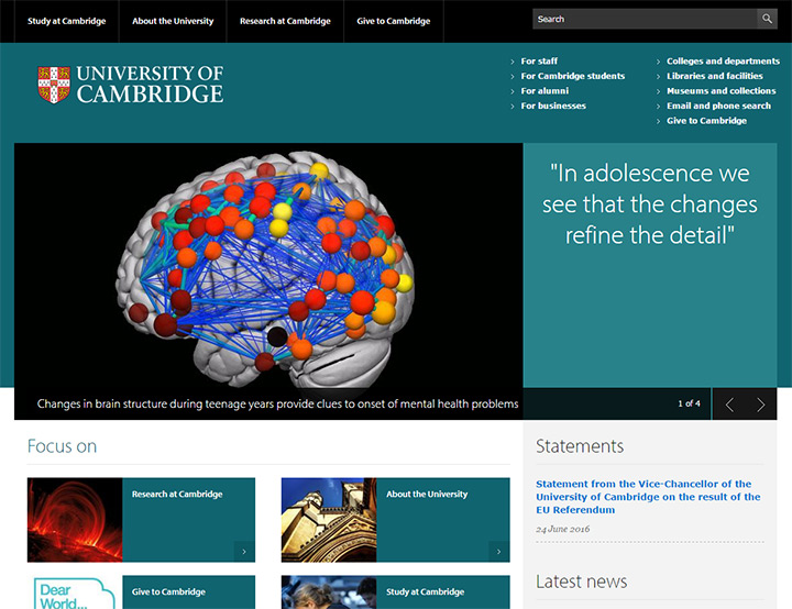 cambridge university site