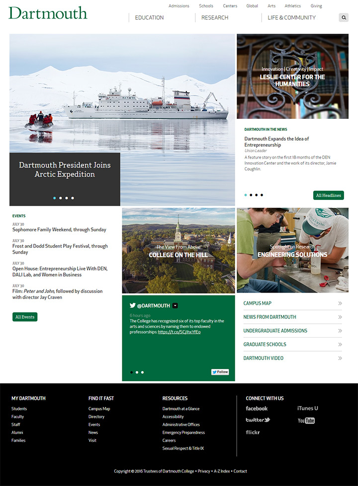dartmouth website