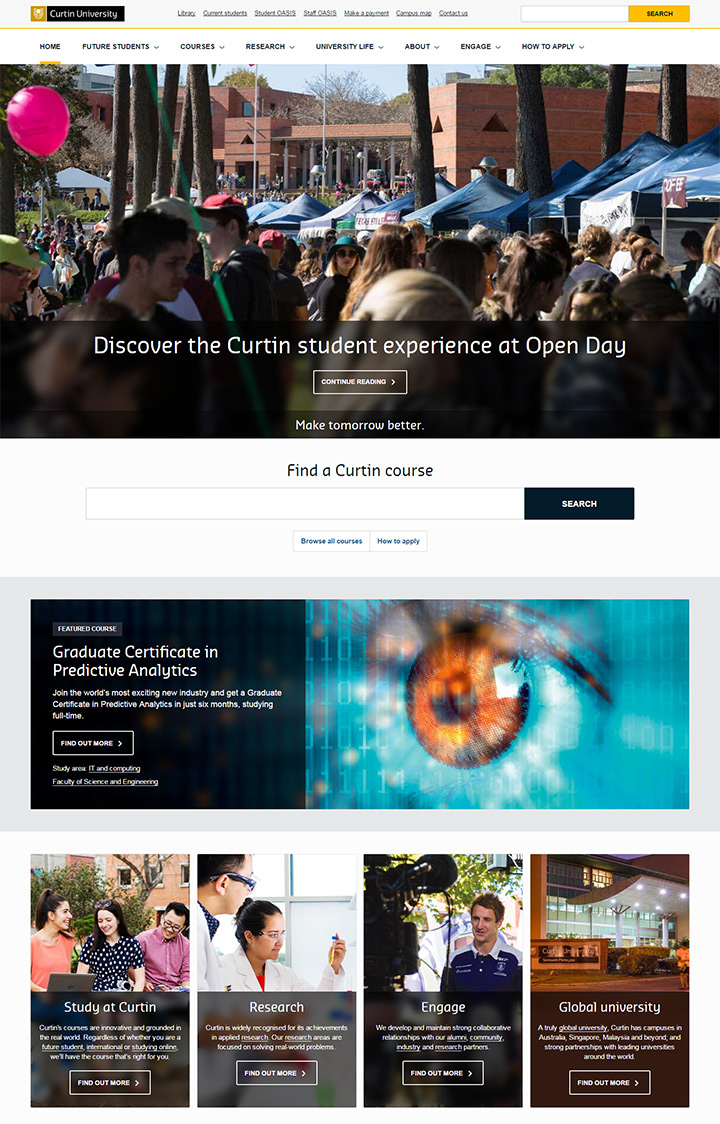 curtain university website
