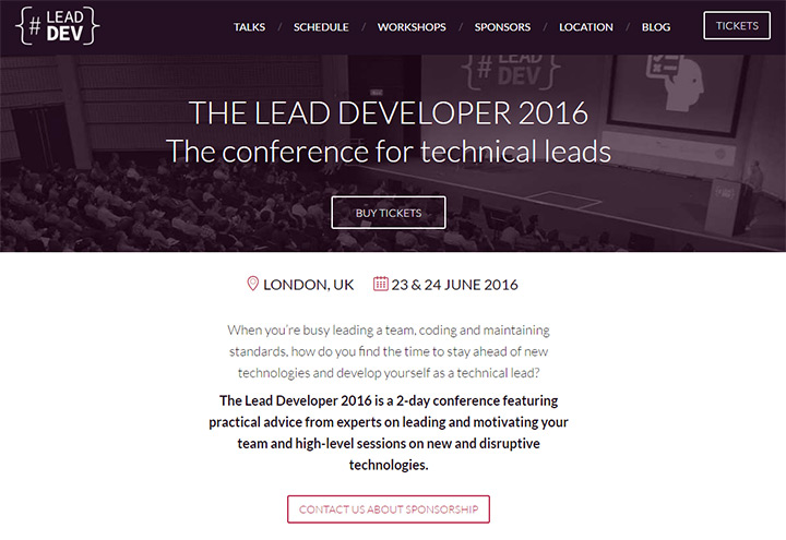 lead developer conference website