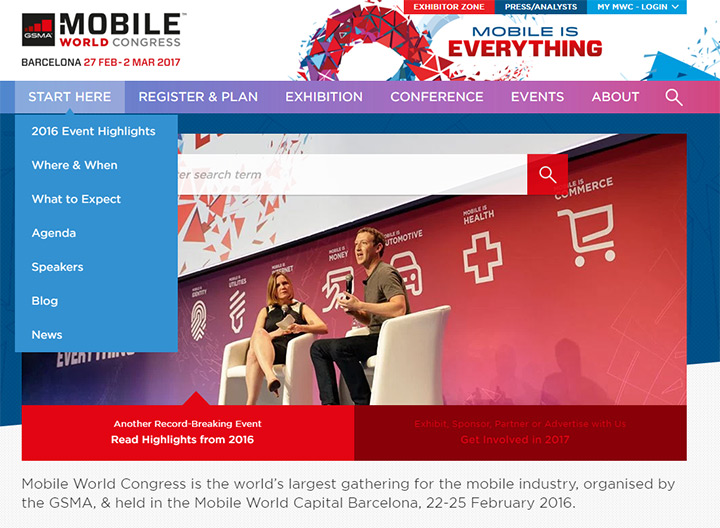 mobile world congress website