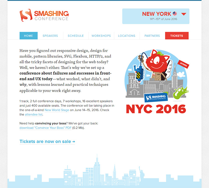 smashing conference website design