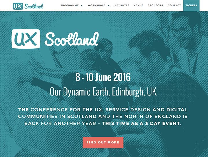 ux scotland 2016 website
