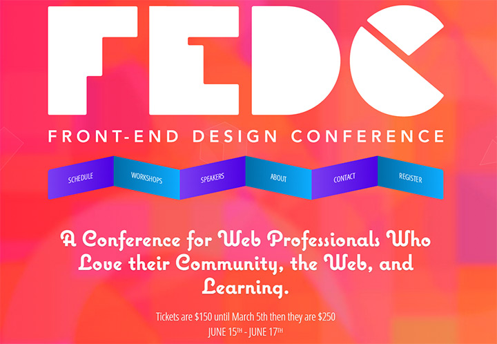 frontend design conf website
