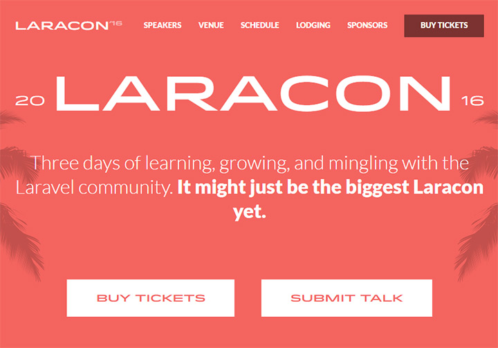 laravel laracon 2016 conference
