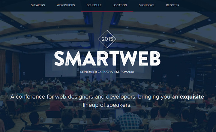 smartweb 2016 conference website