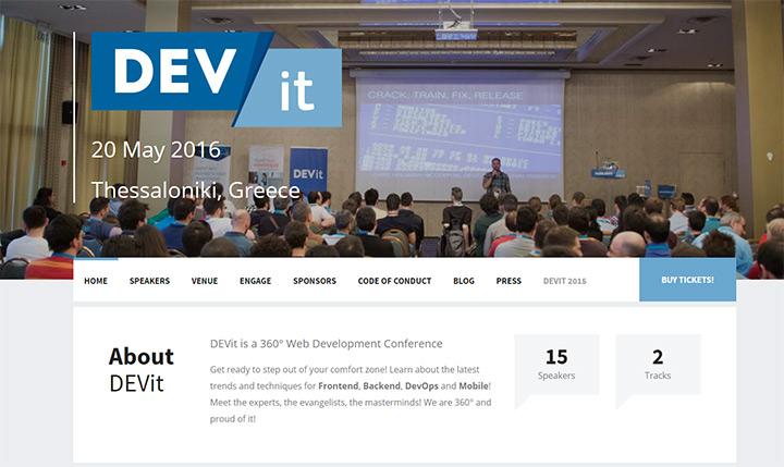 devit conference website