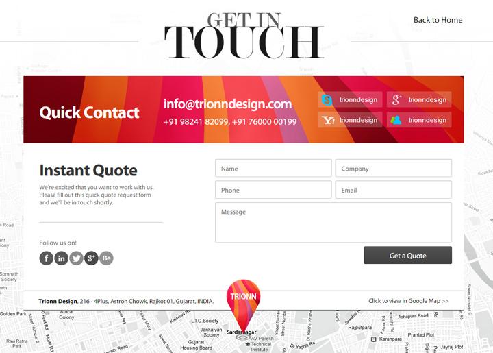 trionn design contact form