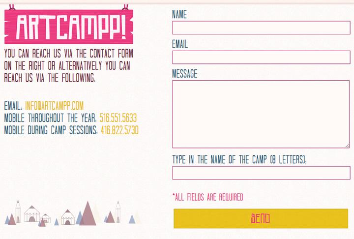 artcampp 2015 contact form