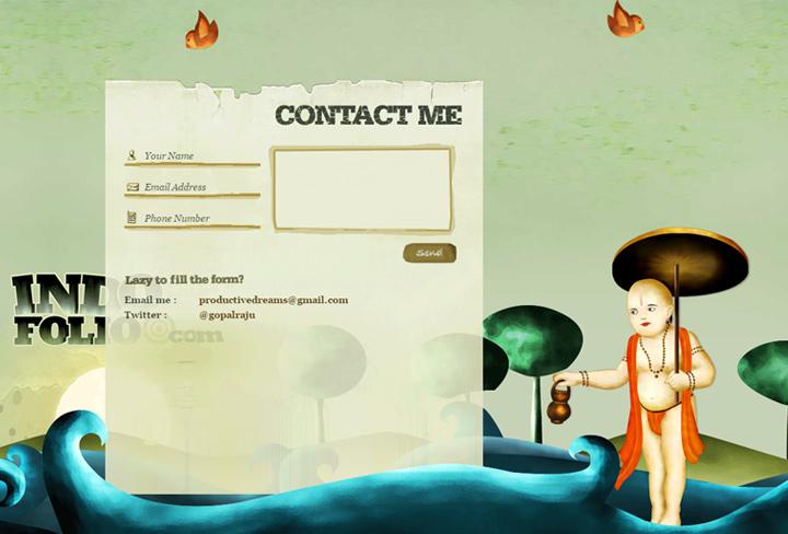 indofolio contact form