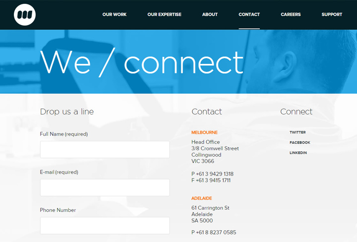 webplace agency contact form