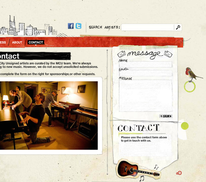 music city unsigned contact form