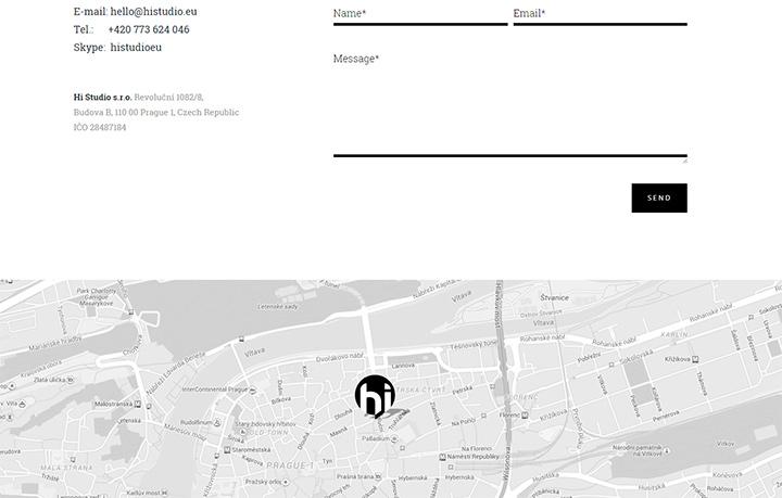 hi studio contact form