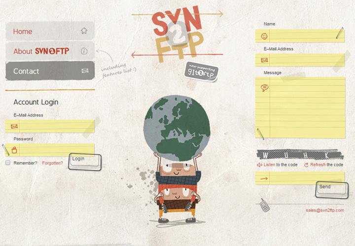 svn2ftp contact form screenshot