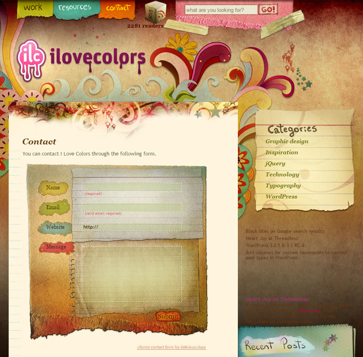 i love colors archive contact form