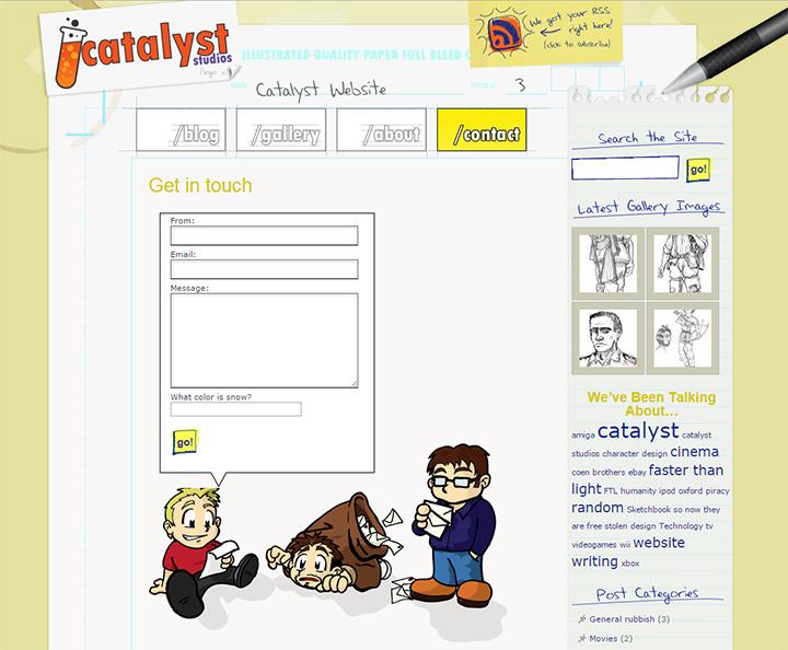 catalyst studios contact form