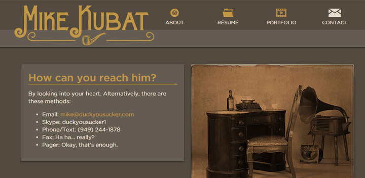 mike kubat contact form