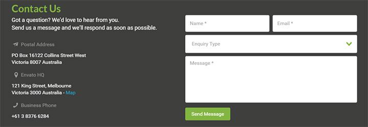 envato contact form design