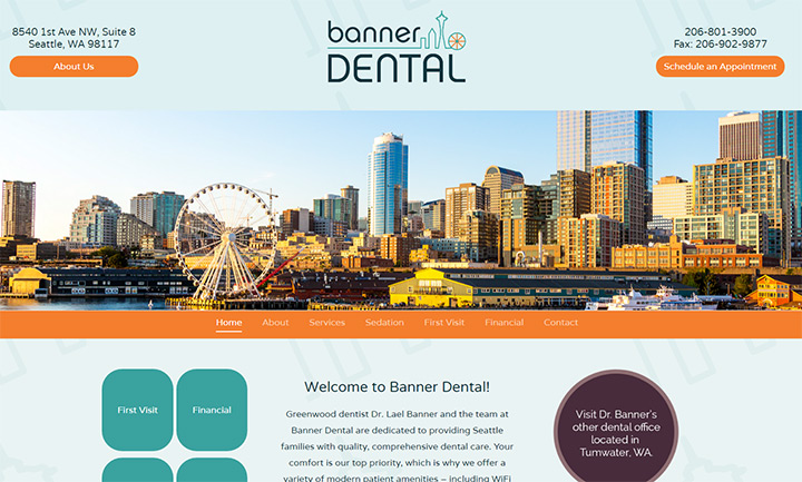 banner dental homepage