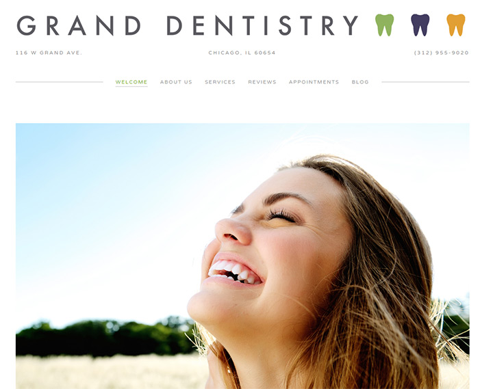 grand dentistry homepage