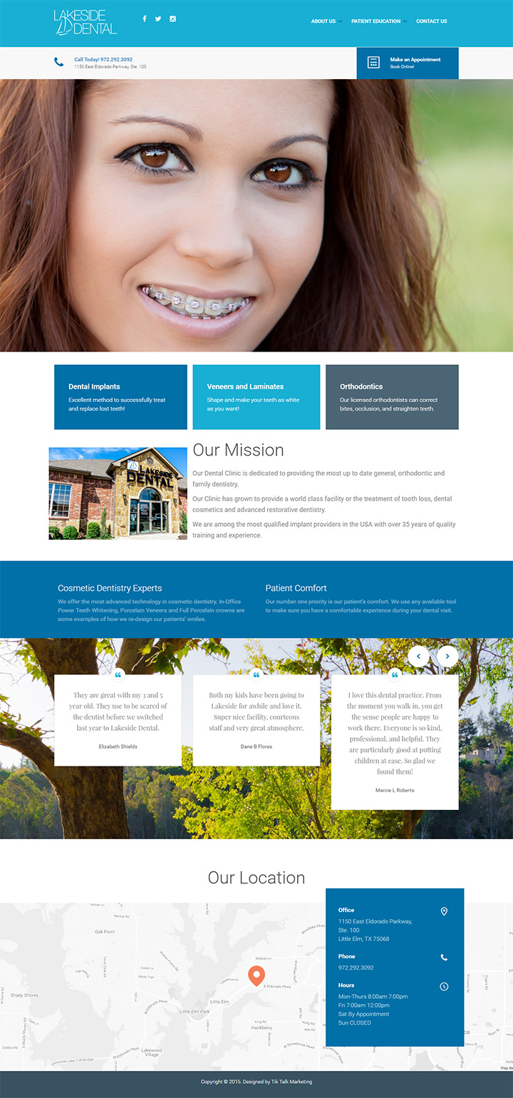 lakeside dental homepage