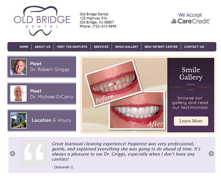 old bridge dental page