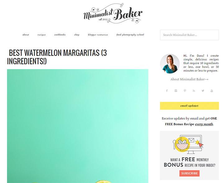 minimalist baker blog