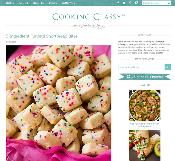 cooking classy blog
