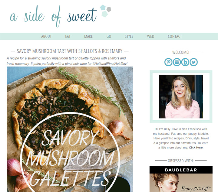 side of sweet blog