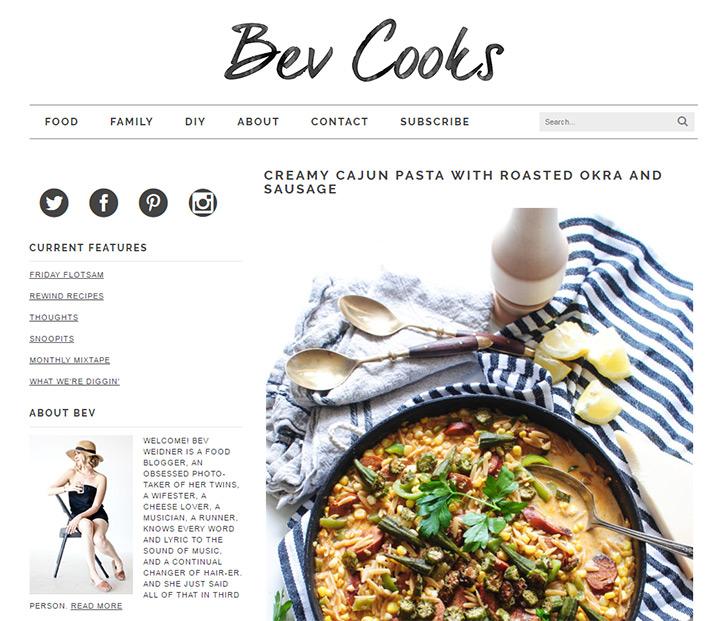 bev cooks blog