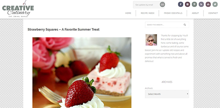 creative culinary blog