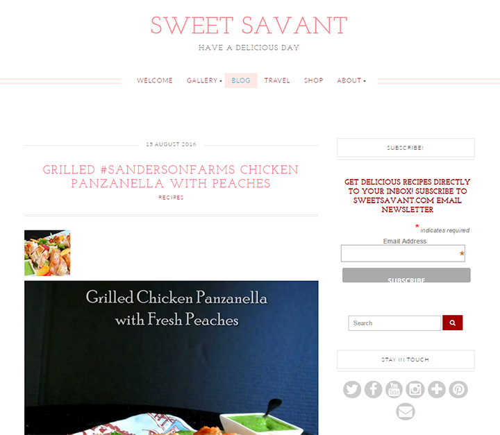 sweet savant blog