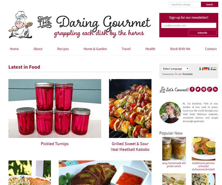 daring gourmet blog