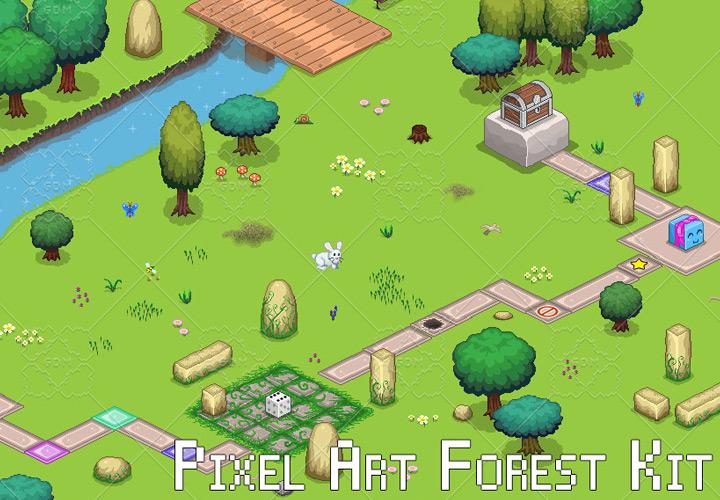 pixel art forest assets