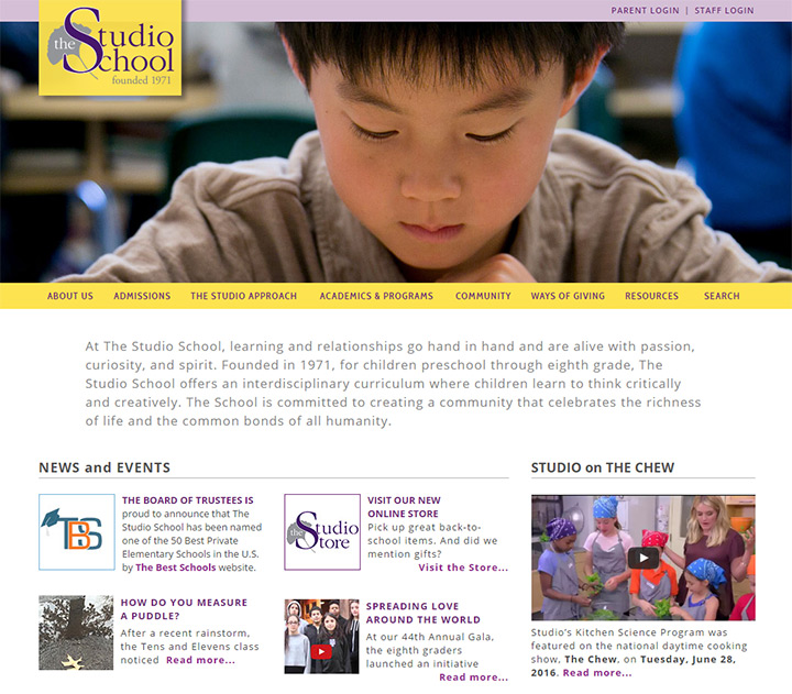 studio school website