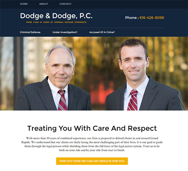 dodge pc law firm website