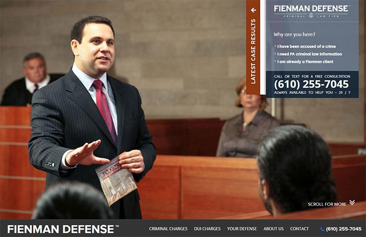 fienman lawyer website