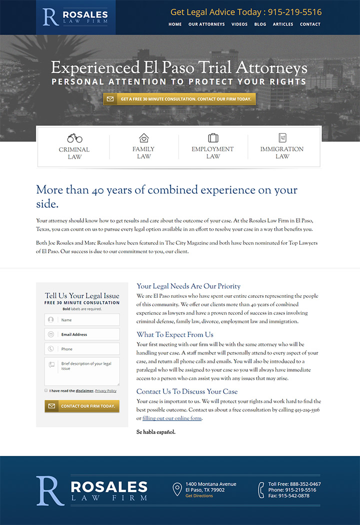 rosales law firm website