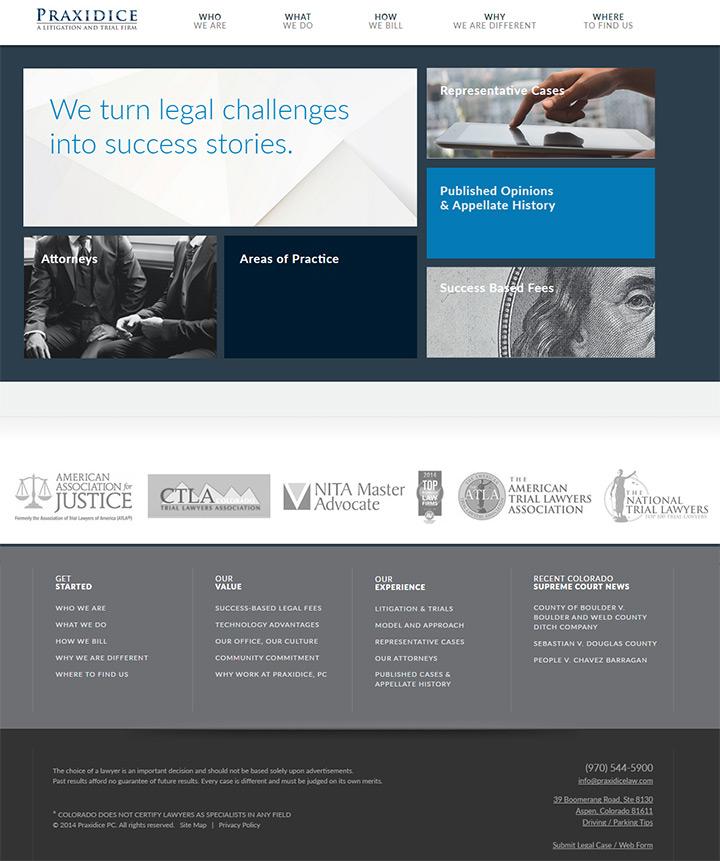praxidice law firm website