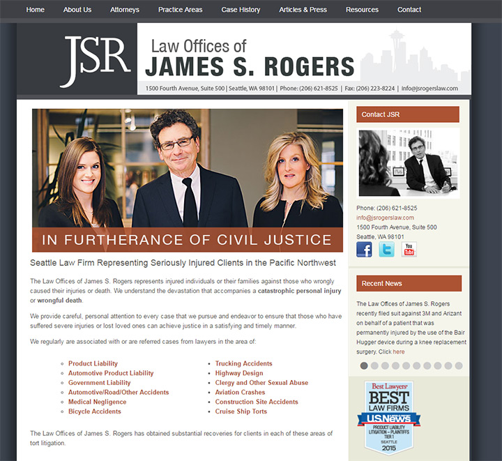 james s rogers law website