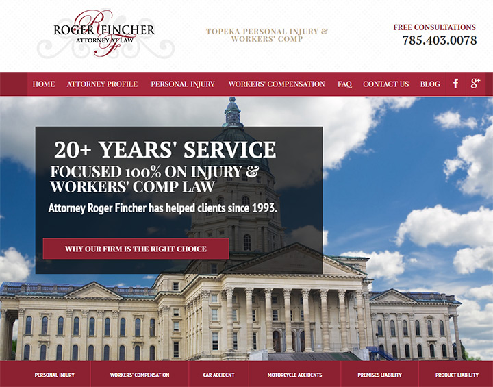 roger fincher lawyer website