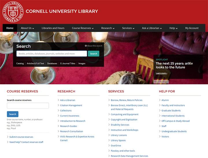 cornell university homepage