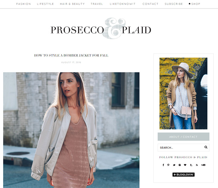 prosecco plaid blog
