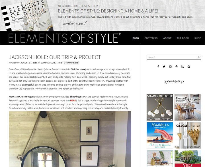 elements of style blog