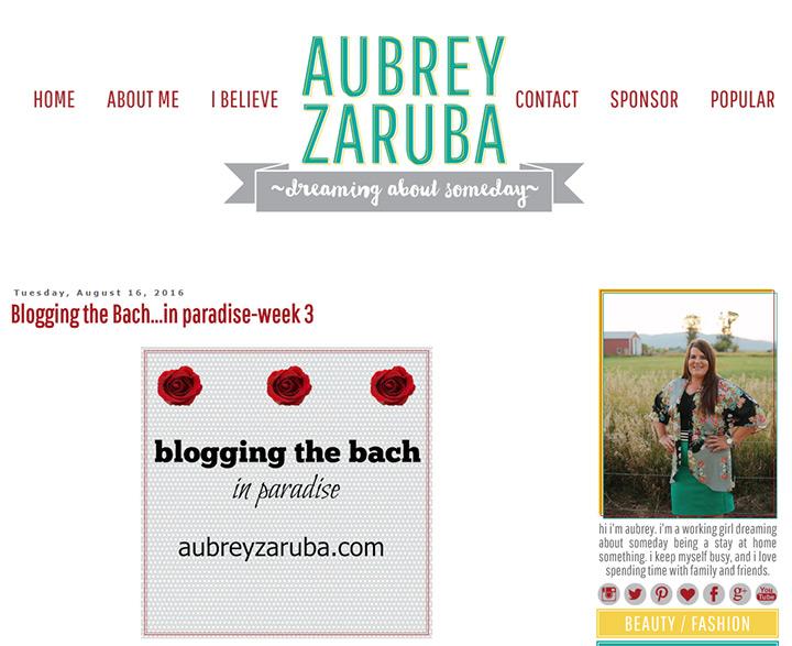 aubrey zaruba blog