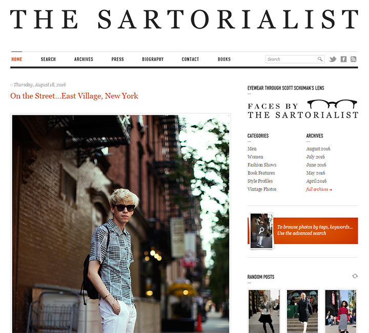 sartorialist blog