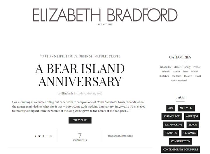 elizabeth bradford blog